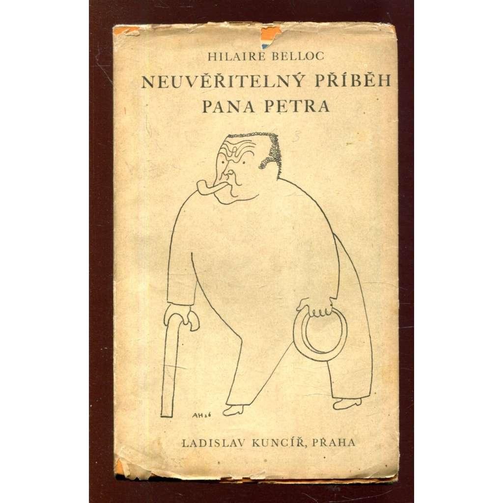 Neuvěřitelný příběh pana Petra (obálka Adolf Hoffmeister)