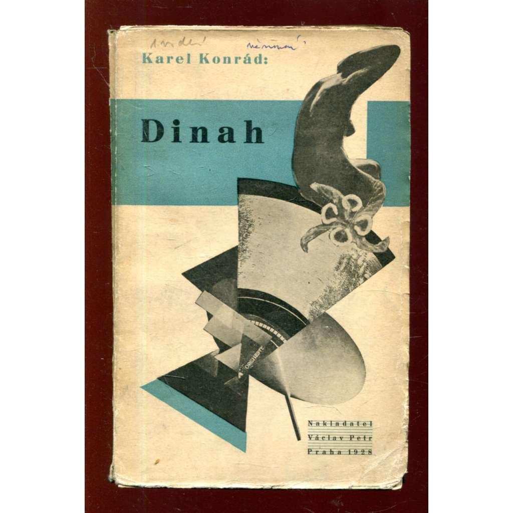 Dinah (obálka Karel Teige) + podpis K. Konrád