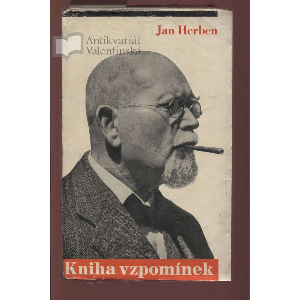 Kniha vzpomínek (obálka Ladislav Sutnar)