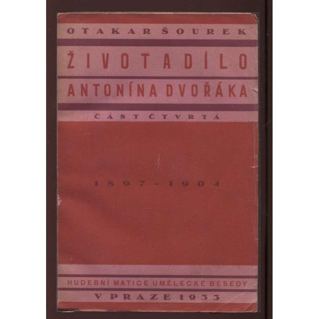 Život a dílo Antonína Dvořáka, část IV. (obálka Ladislav Sutnar)