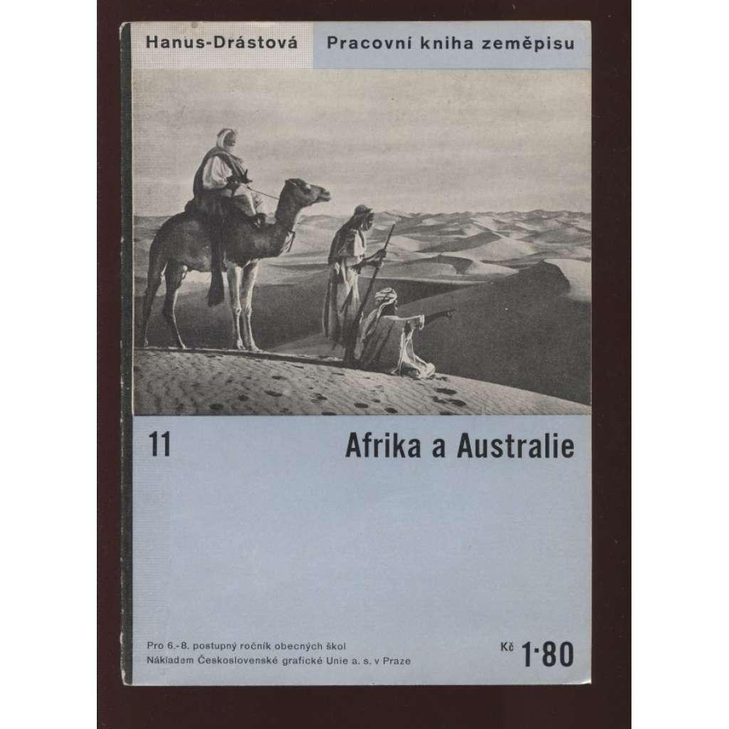 Afrika a Australie. Pracovní kniha zeměpisu 11 (obálka Ladislav Sutnar)