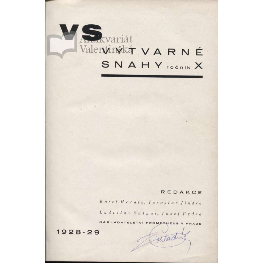 Výtvarné snahy, ročník X. 1928-29
