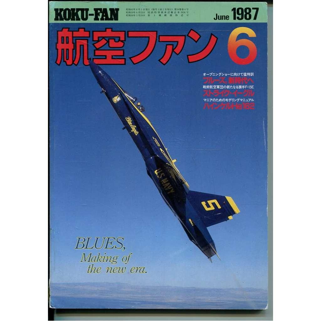 The Koku-Fan 6/1987, Vol. 36, No. 6 (letectví, letadla)