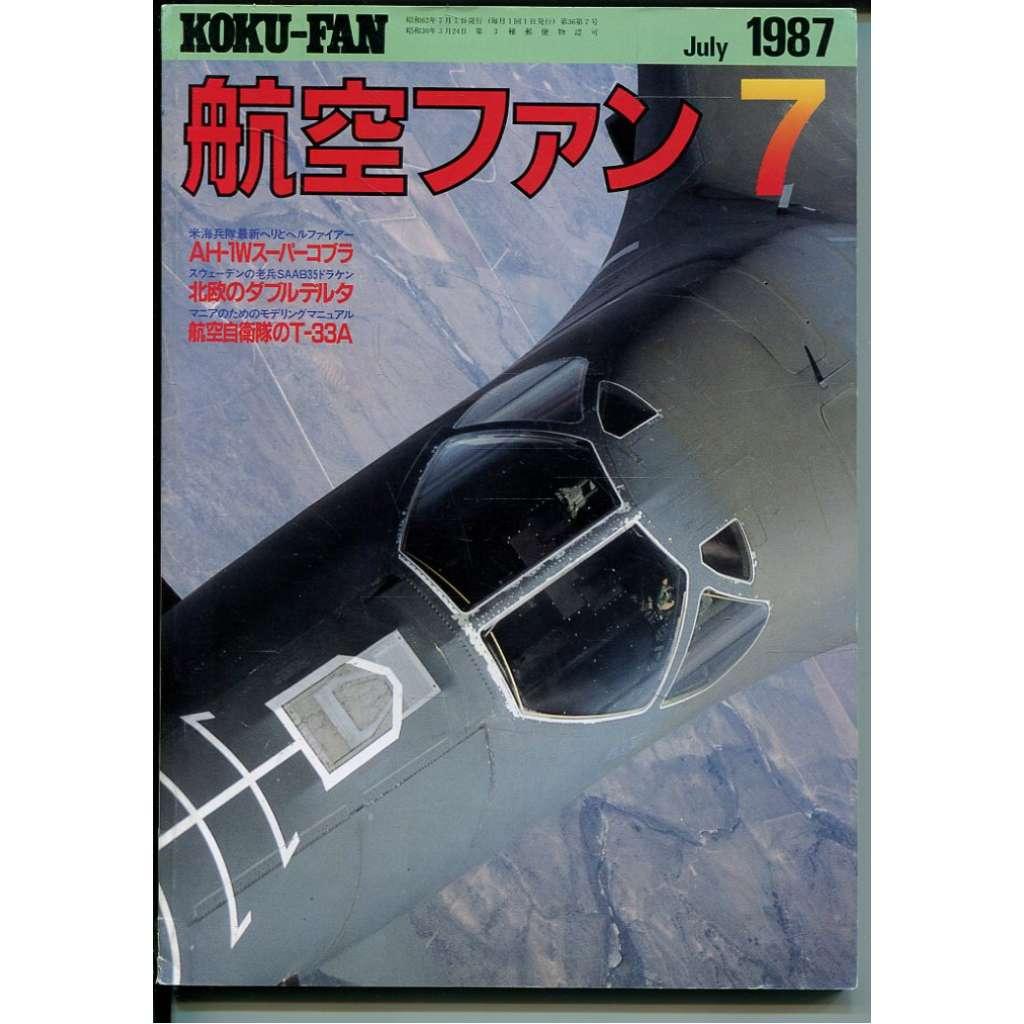 The Koku-Fan 7/1987, Vol. 36, No. 7 (letectví, letadla)
