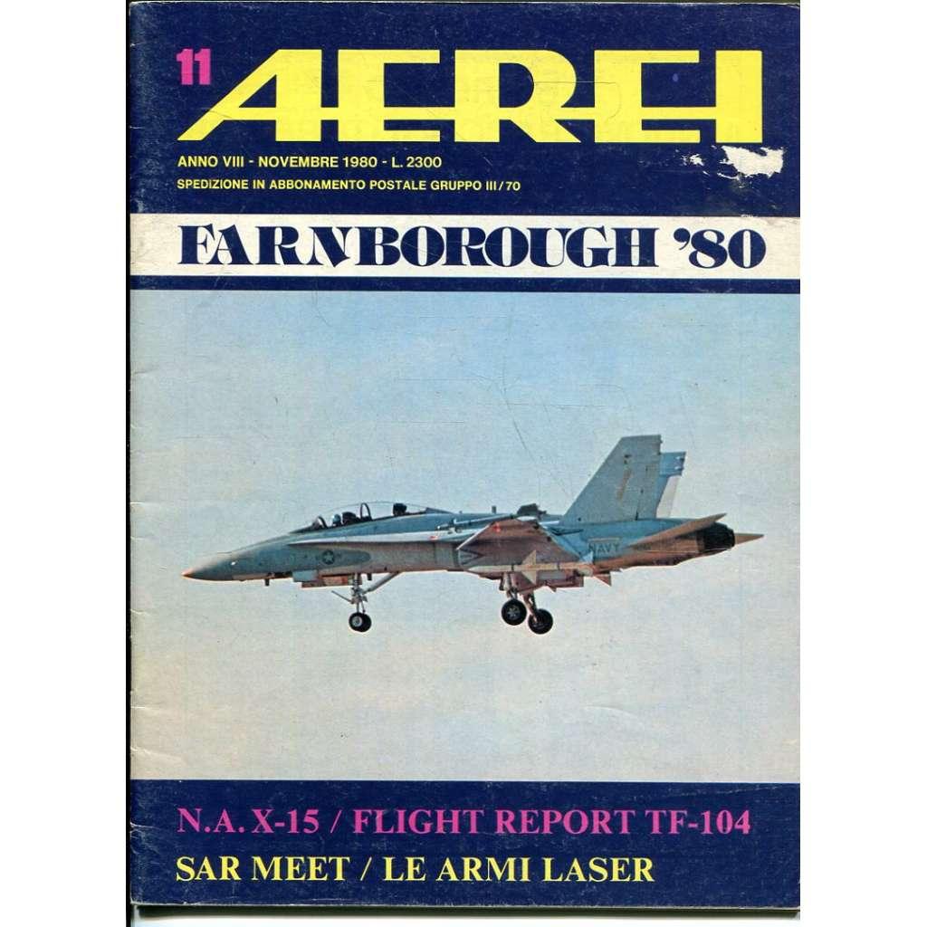 Aerei 11/1980 (letectví, letadla)