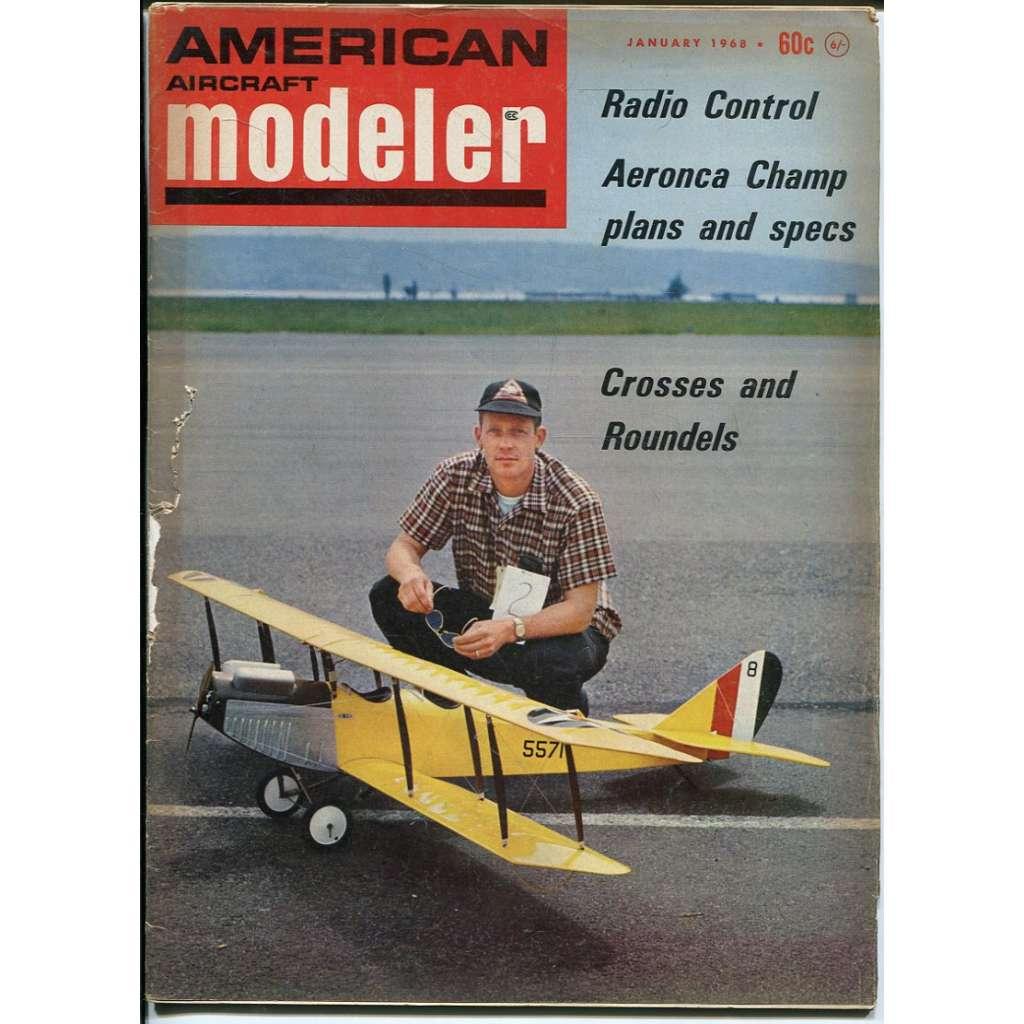 American Aircraft Modeler 1/1968, Vol. 66, No. 1 (letadla, modelářství)