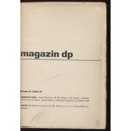 Magazin DP, Družstevní práce - ročník IV. (1936-1937) - bez obálek
