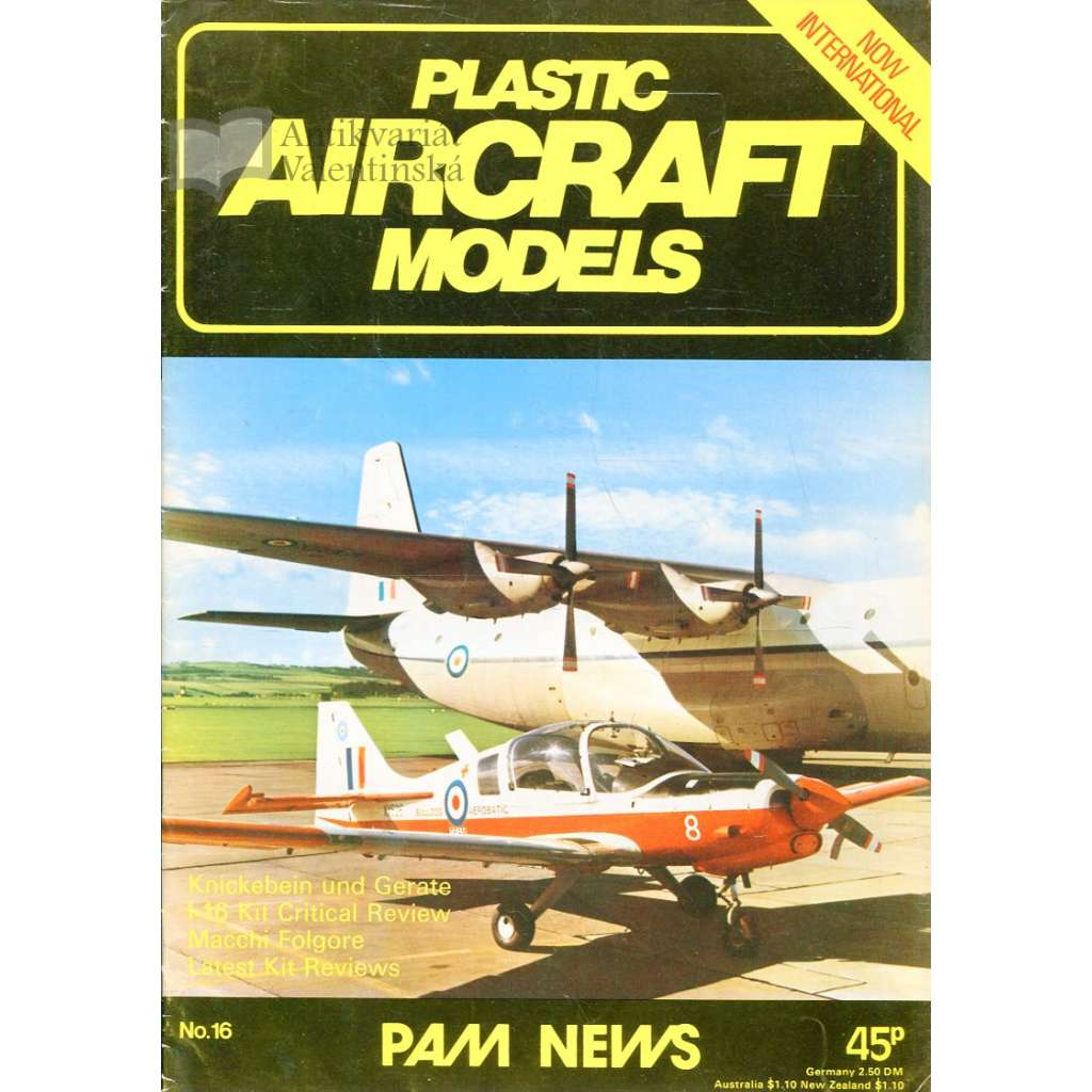Plastic Aircraft Models No. 16, 1977 (letadla, modelářství)