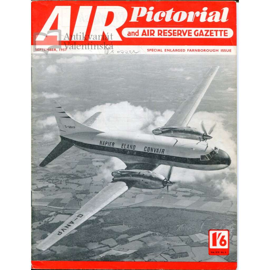 Air Pictorial 9/1957, Vol. 19, No. 9 (letadla, letectví)