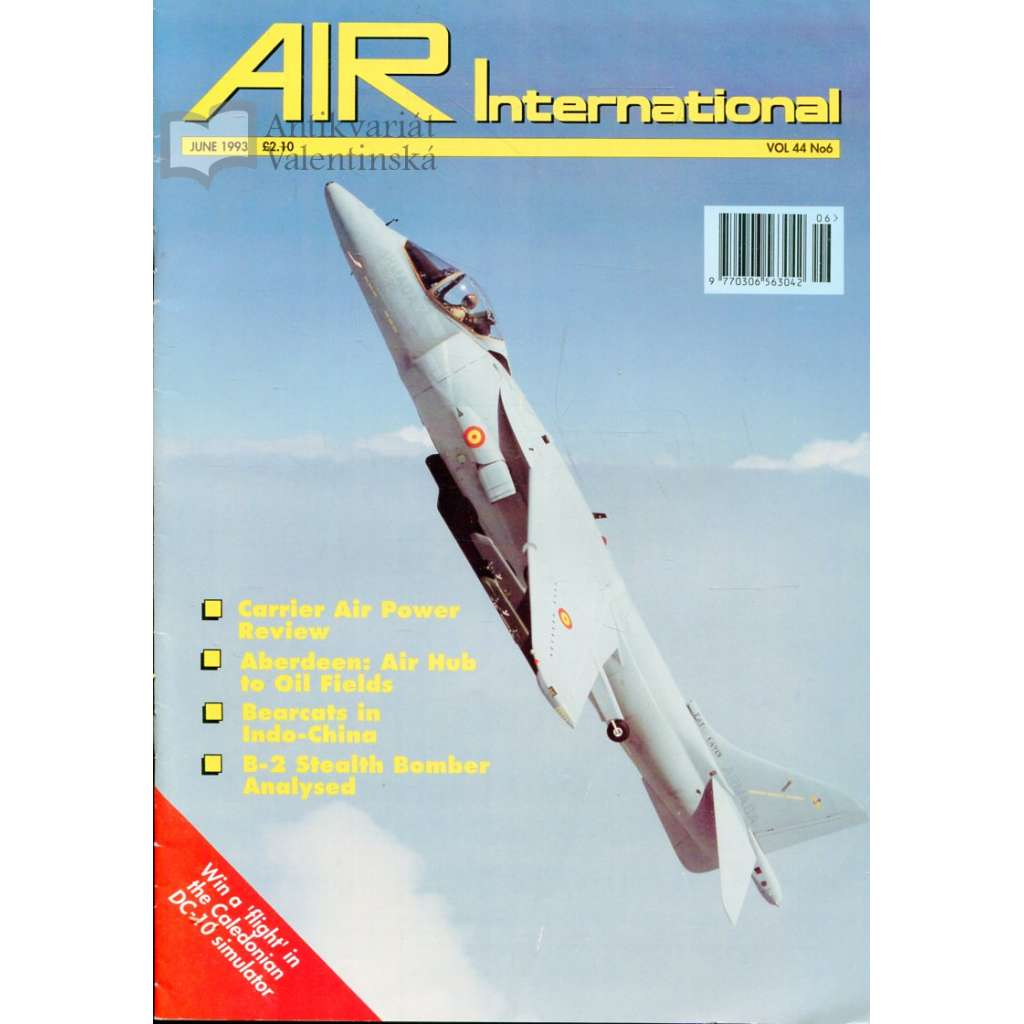 Air International 6/1993, Vol. 44, No. 6 (letectví, letadla)