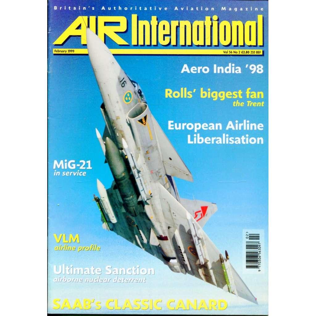 Air International 2/1999, Vol. 56, No. 2 (letectví, letadla)