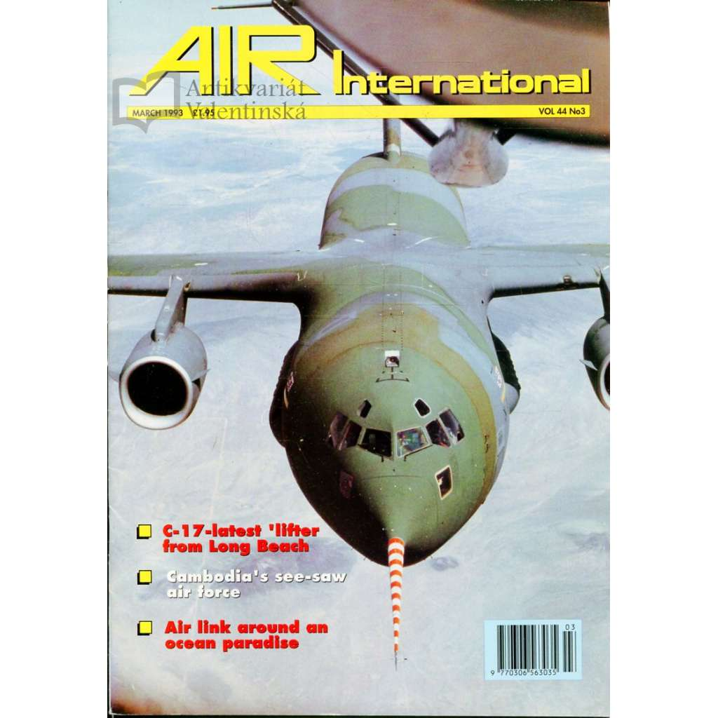 Air International 3/1993, Vol. 44, No. 3 (letectví, letadla)