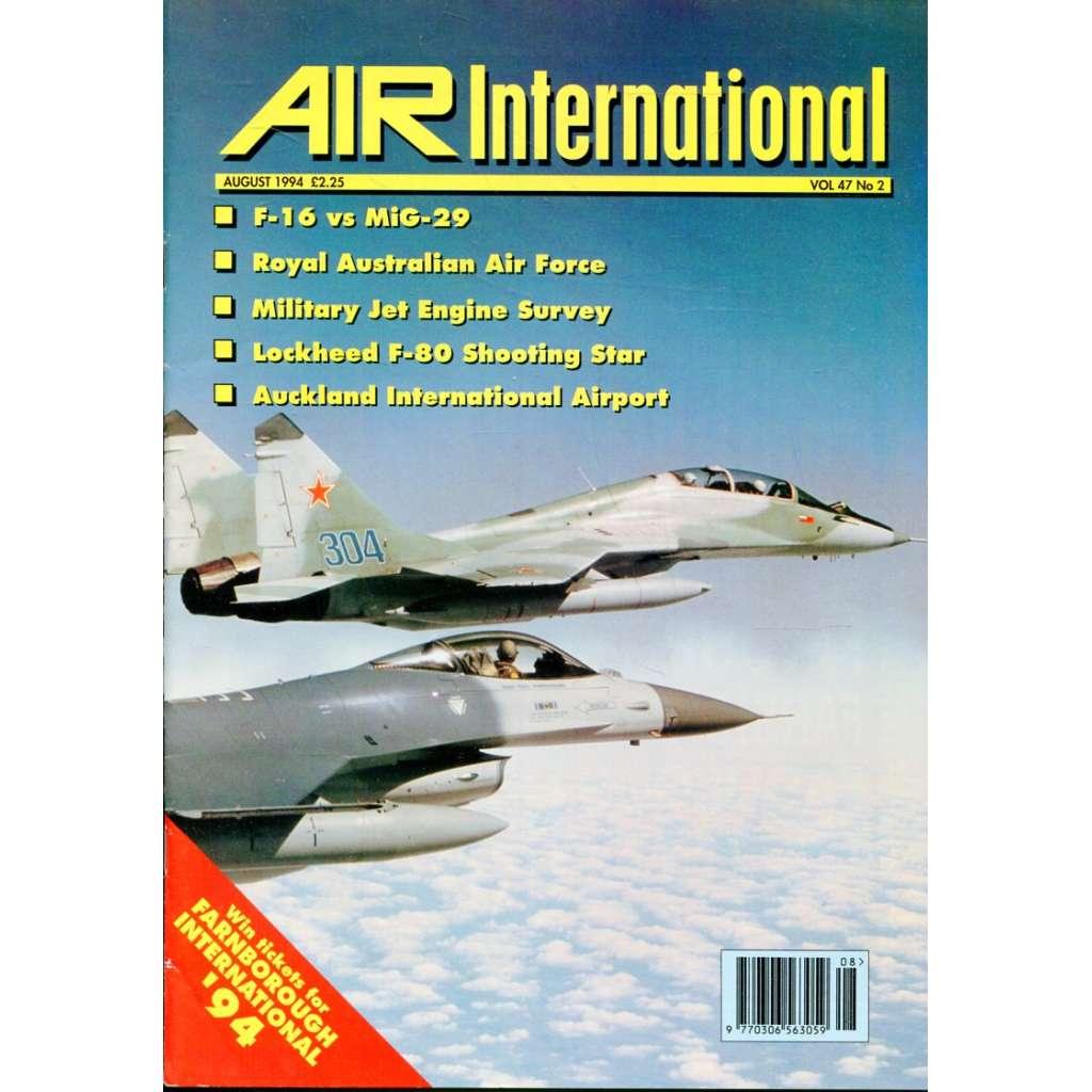 Air International 8/1994, Vol. 47, No. 2 (letectví, letadla)