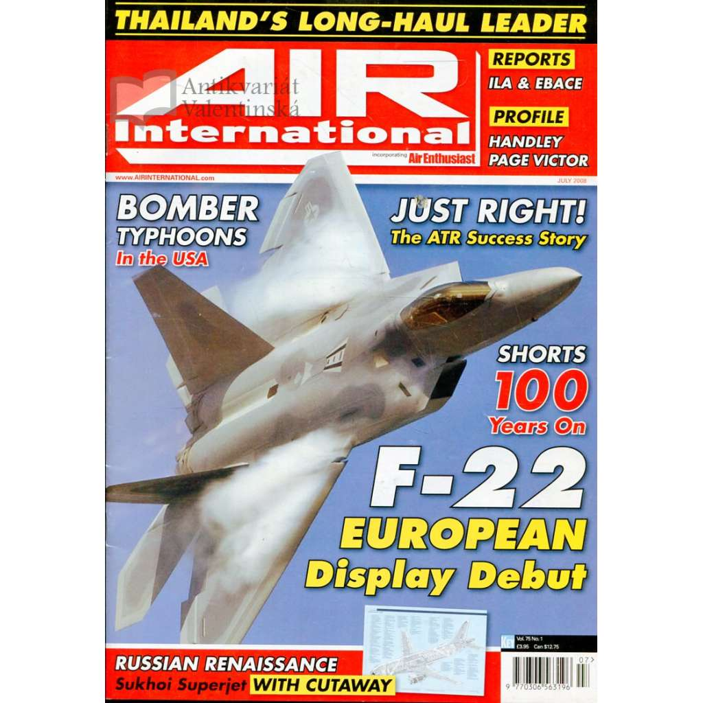 Air International 7/2008, Vol. 75, No. 1 (letectví, letadla)