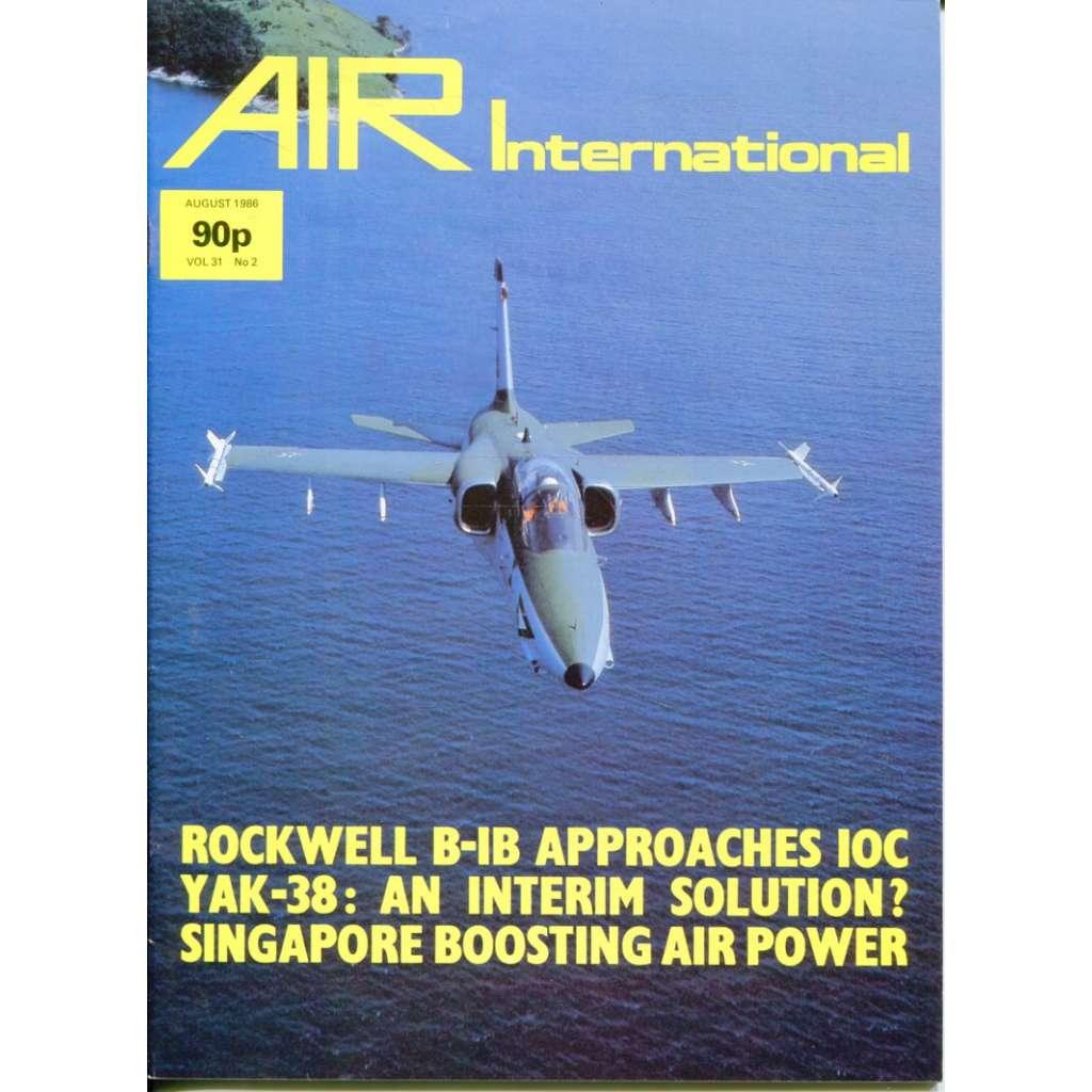 Air International 8/1986, Vol. 31, No. 2 (letectví, letadla)