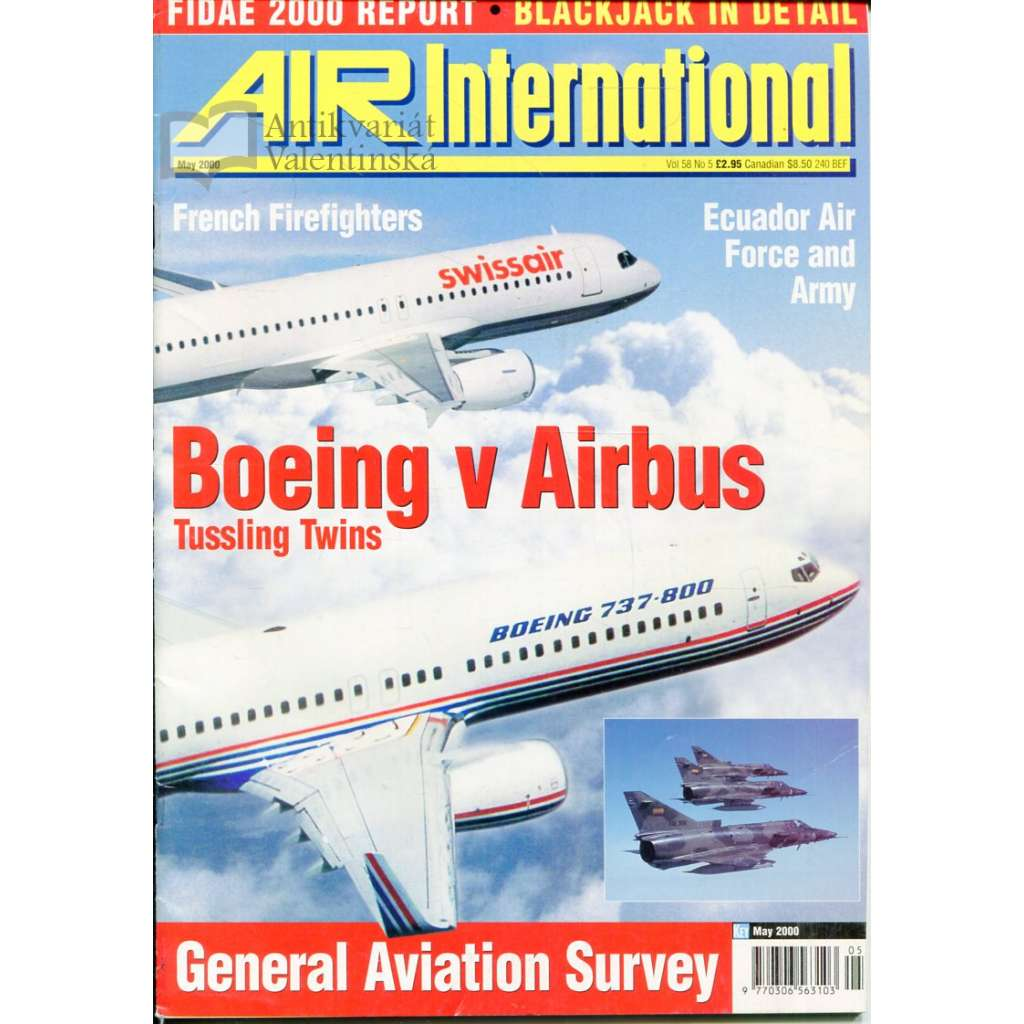 Air International 5/2000, Vol. 58, No. 5 (letectví, letadla)
