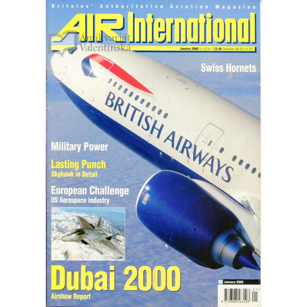 Air International 1/2000, Vol. 58, No. 1 (letectví, letadla)