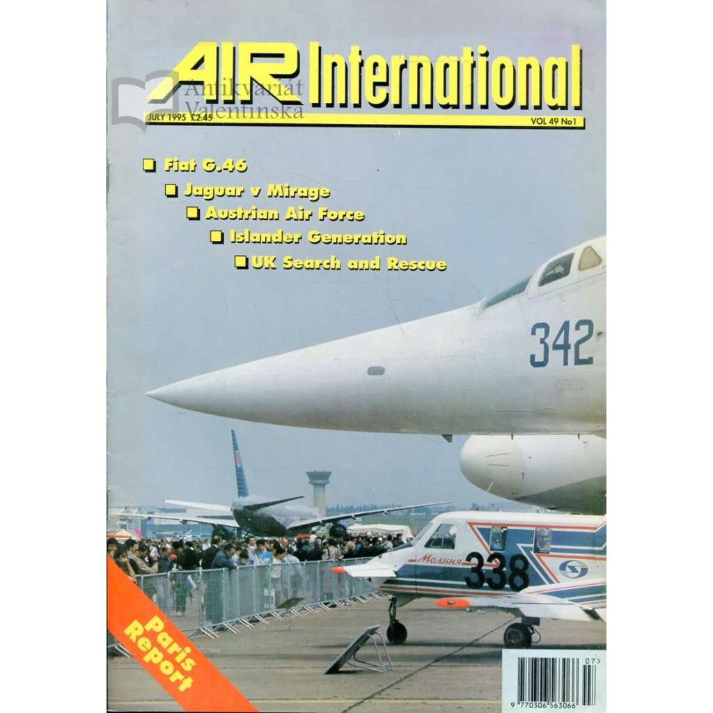 Air International 6/1995, Vol. 49, No. 1 (letectví, letadla)