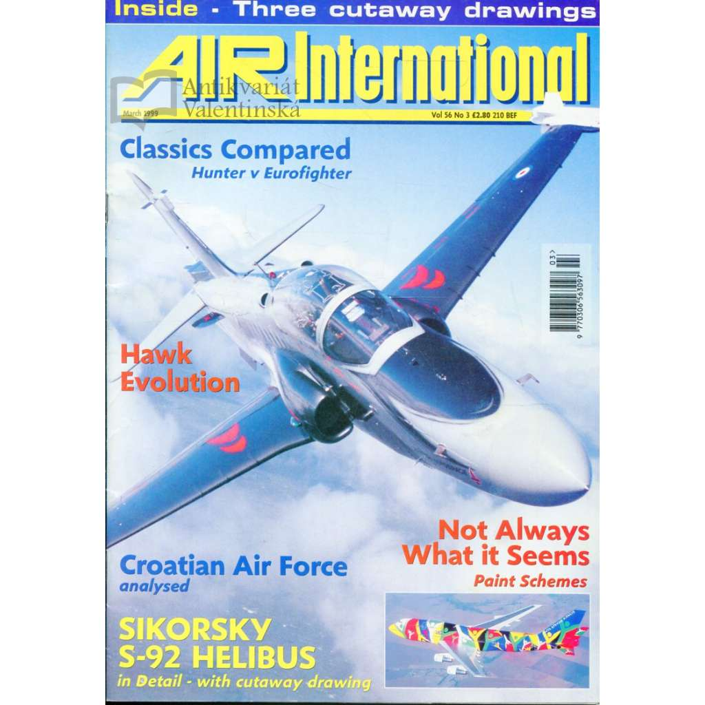 Air International 3/1999, Vol. 56, No. 3 (letectví, letadla)