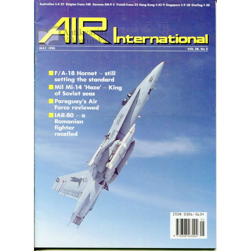Air International 5/1990, Vol. 38, No. 5 (letectví, letadla)