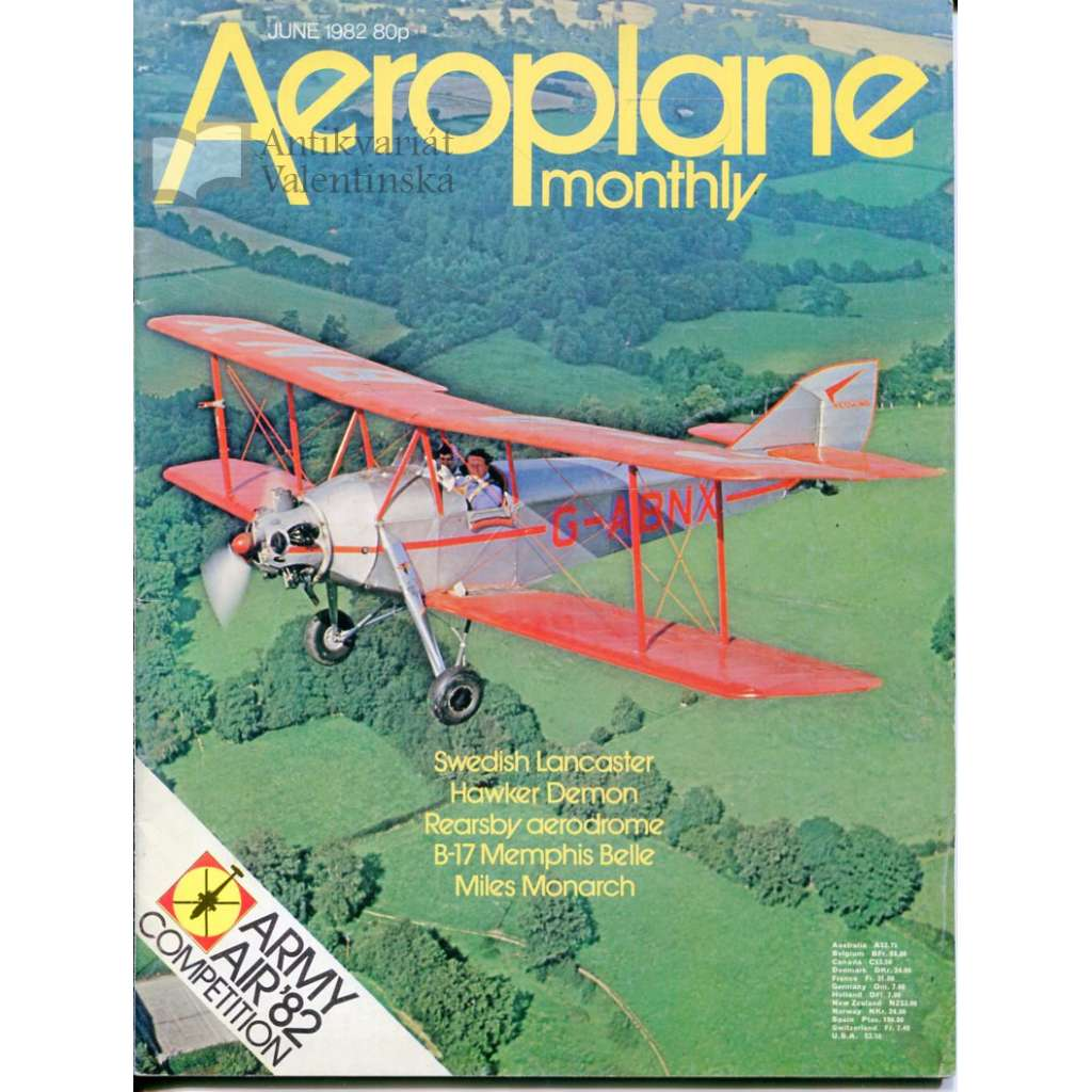 Aeroplane Monthly 6/1982, Vol. 10, No. 6, Issue No. 110 (letectví, letadla)