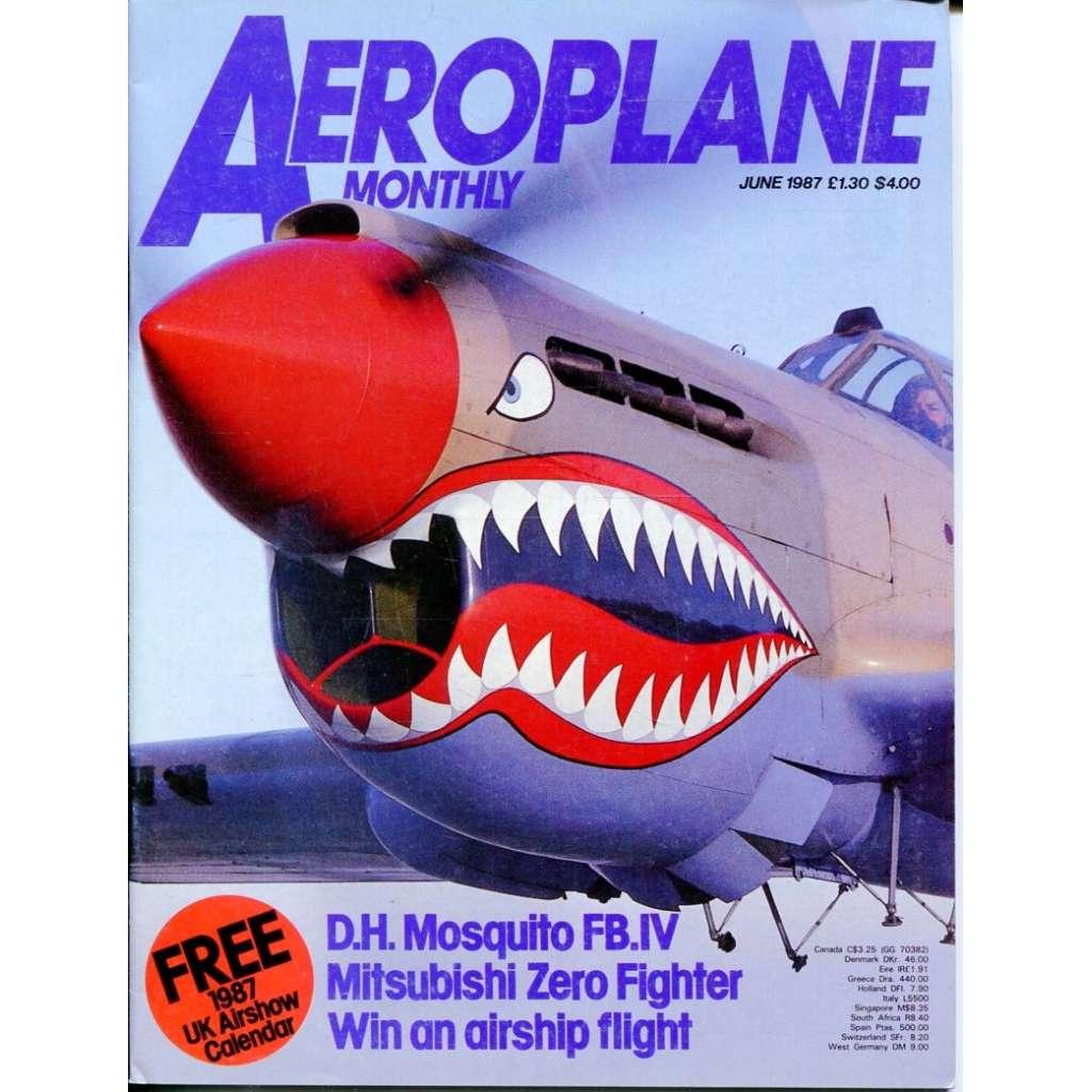 Aeroplane Monthly 6/1987, Vol. 15, No. 6, Issue No. 170 (letectví, letadla)