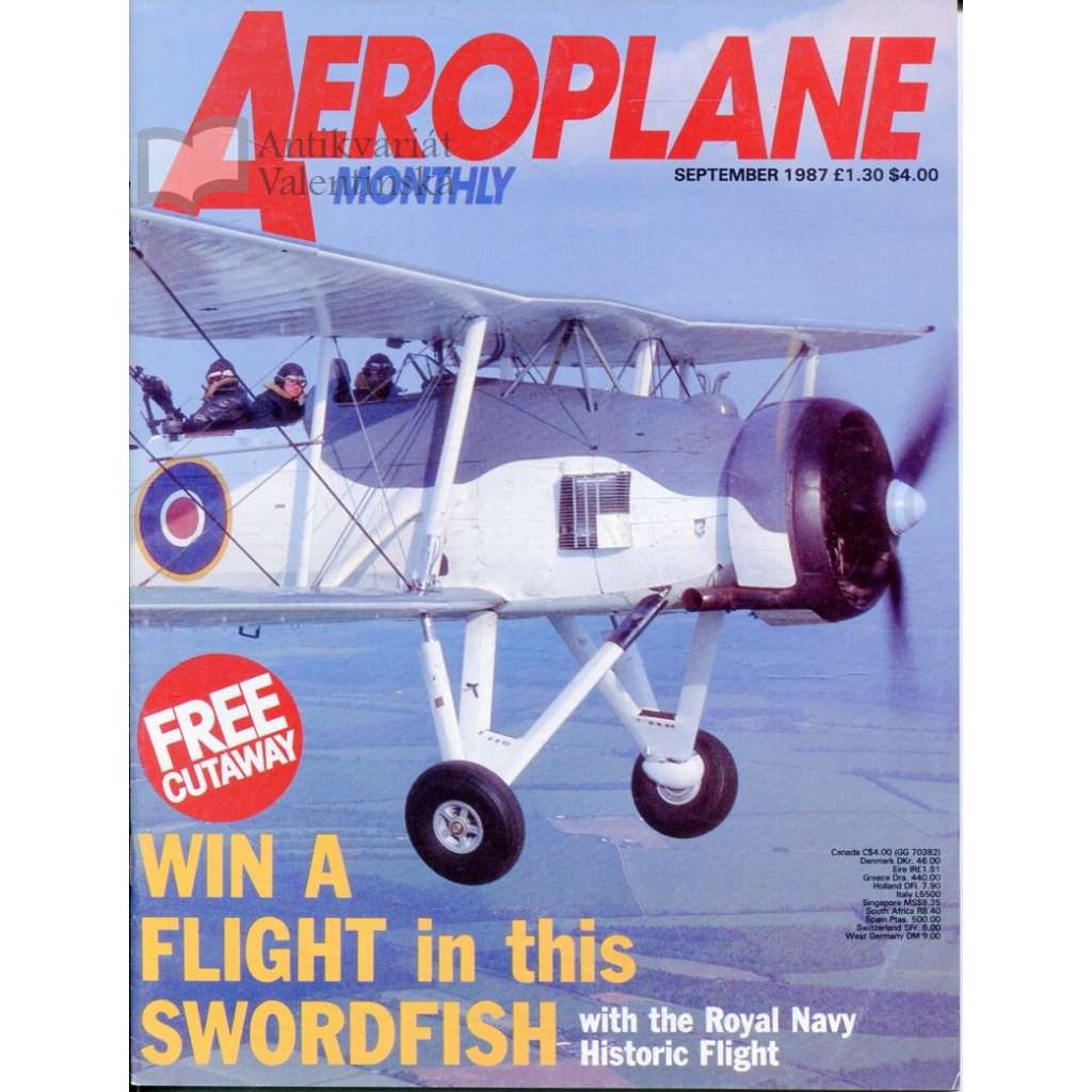 Aeroplane Monthly 9/1987, Vol. 15, No. 9, Issue No. 173 (letectví, letadla)