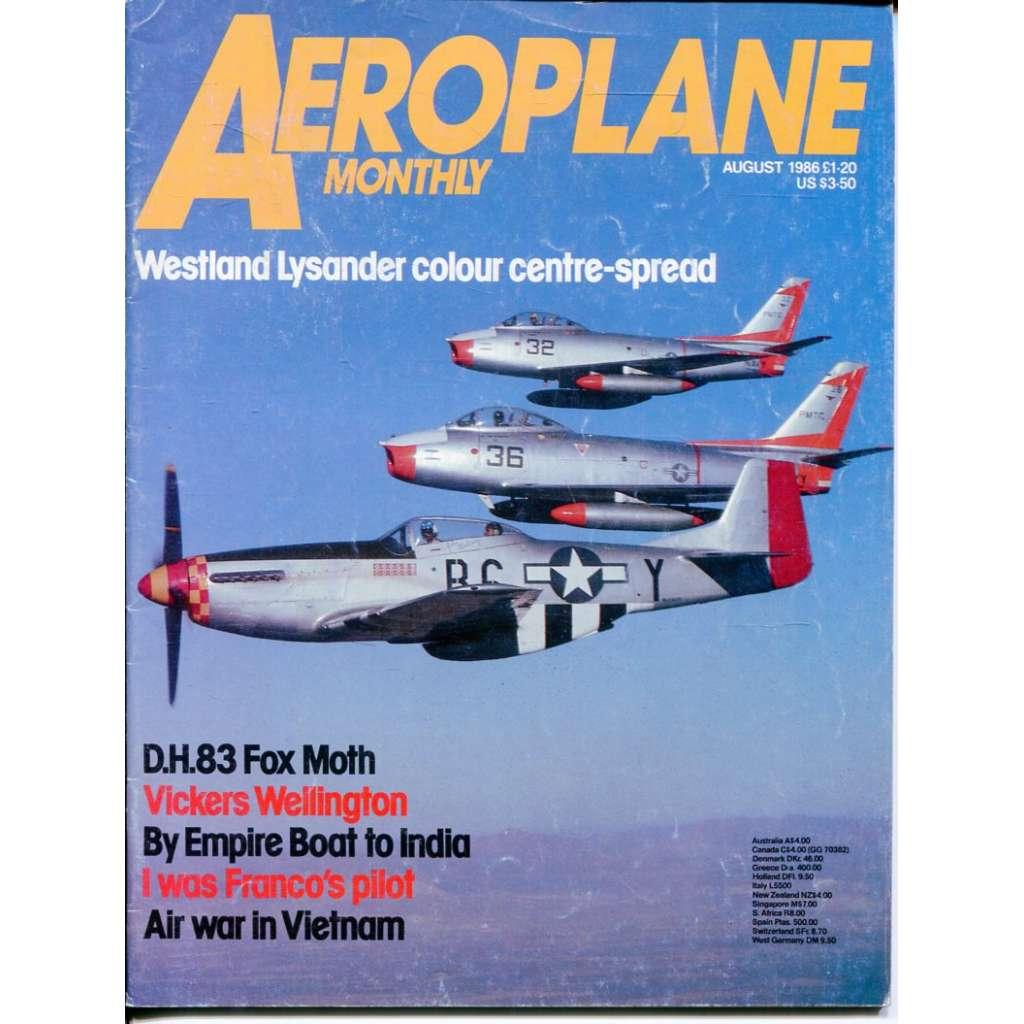 Aeroplane Monthly 8/1986, Vol. 14, No. 8, Issue No. 160 (letectví, letadla)
