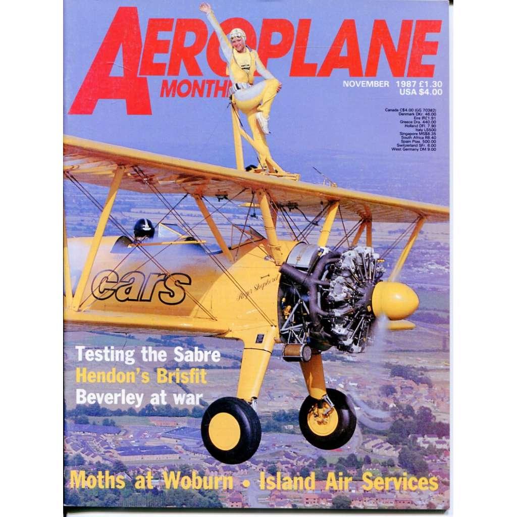 Aeroplane Monthly 11/1987, Vol. 15, No. 11, Issue No. 175 (letectví, letadla)