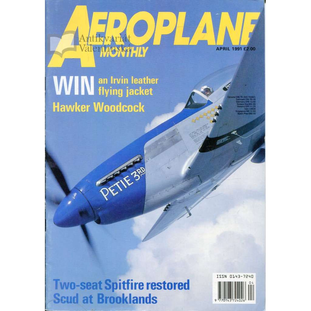 Aeroplane Monthly 4/1991, Vol. 19, No. 4, Issue No. 216 (letectví, letadla)