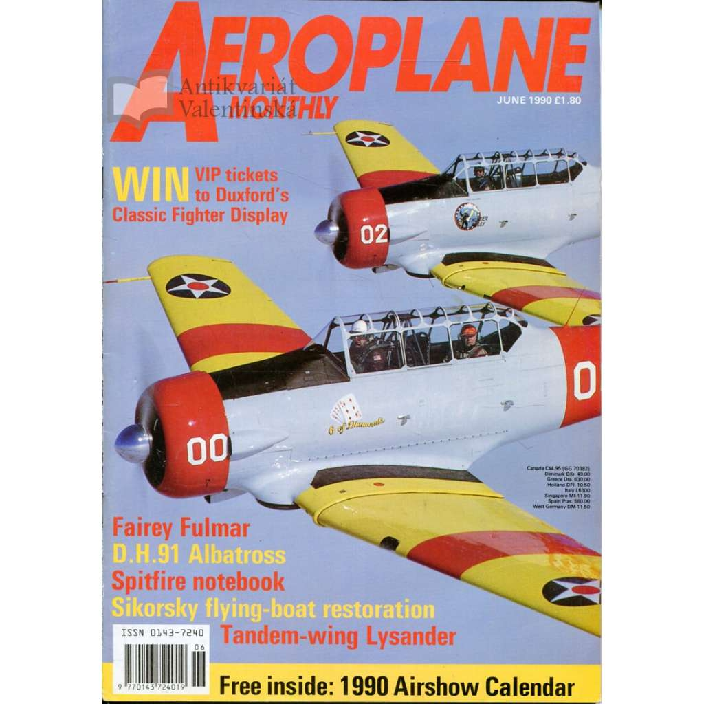 Aeroplane Monthly 6/1990, Vol. 18, No. 6, Issue No. 206 (letectví, letadla)