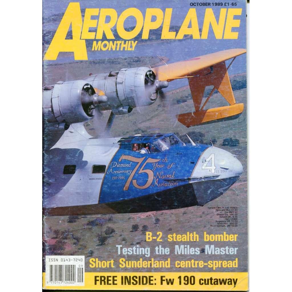 Aeroplane Monthly 10/1989, Vol. 17, No. 10, Issue No. 198 (letectví, letadla)