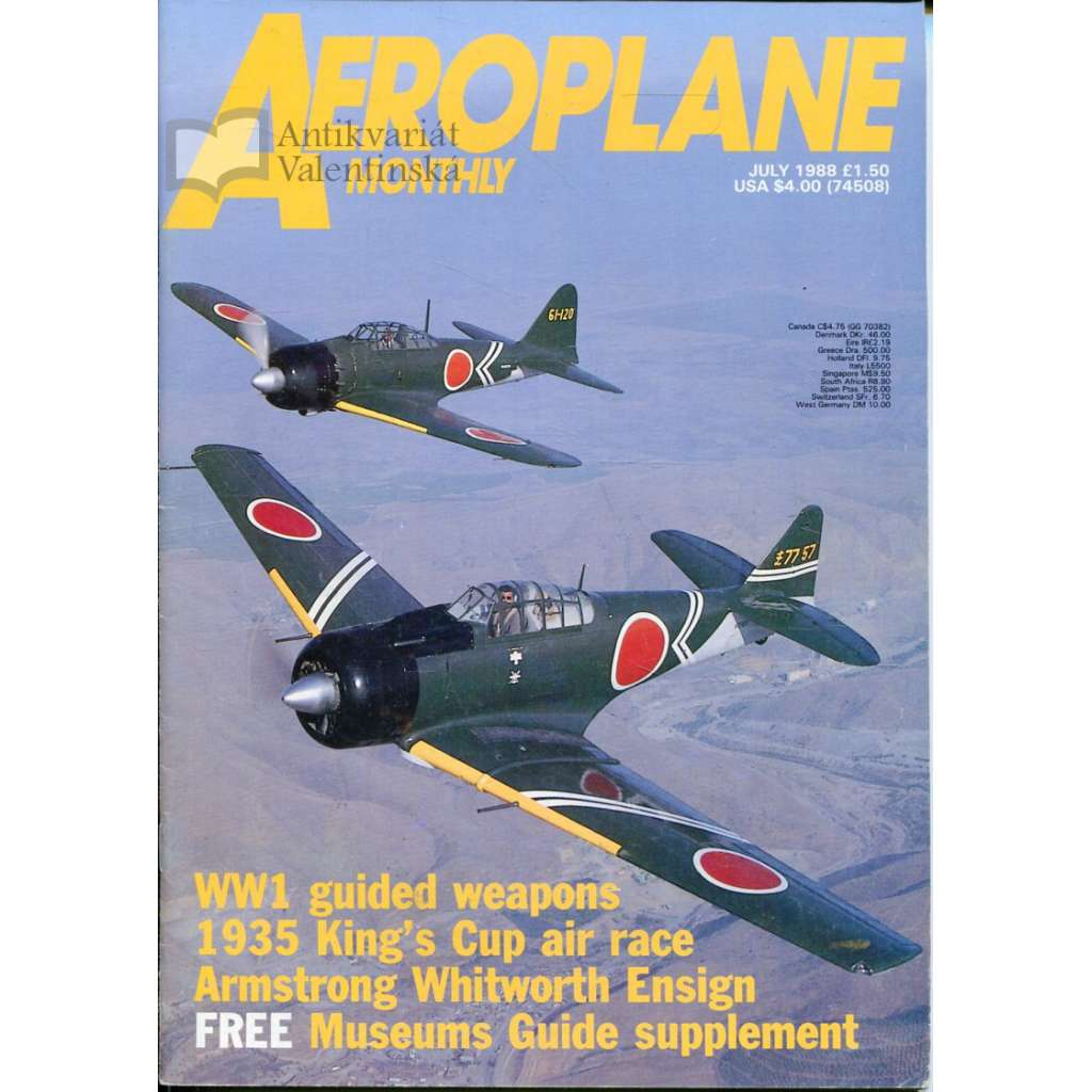 Aeroplane Monthly 7/1988, Vol. 16, No. 7, Issue No. 183 (letectví, letadla)