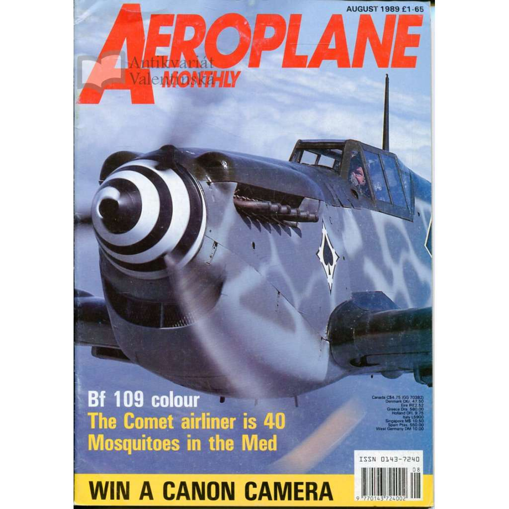 Aeroplane Monthly 8/1989, Vol. 17, No. 8, Issue No. 196 (letectví, letadla)