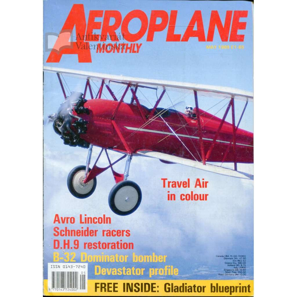 Aeroplane Monthly 5/1989, Vol. 17, No. 5, Issue No. 193 (letectví, letadla)