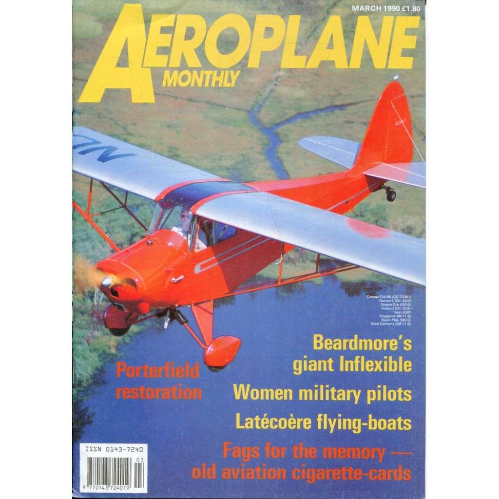 Aeroplane Monthly 3/1990, Vol. 18, No. 3, Issue No. 203 (letectví, letadla)