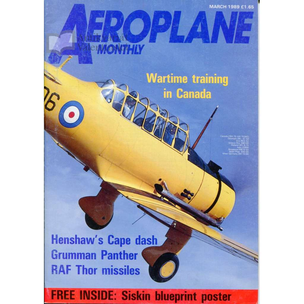 Aeroplane Monthly 3/1989, Vol. 17, No. 3, Issue No. 191 (letectví, letadla)