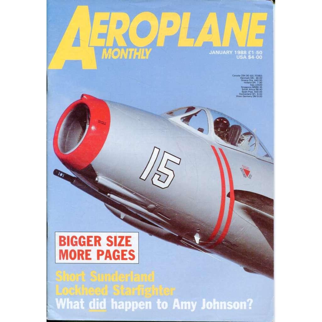 Aeroplane Monthly 1/1988, Vol. 16, No. 1, Issue No. 177 (letectví, letadla)