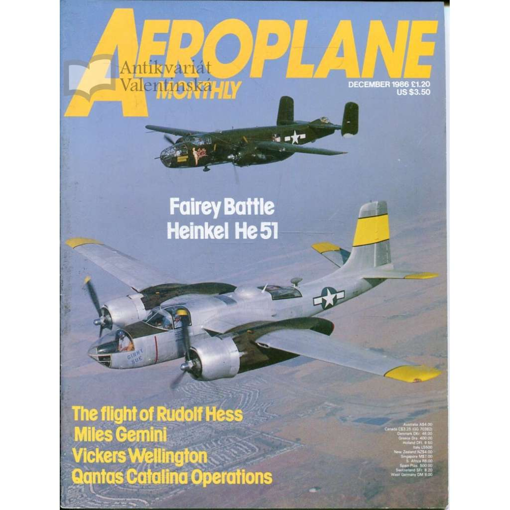 Aeroplane Monthly 12/1986, Vol. 14, No. 12, Issue No. 164 (letectví, letadla)