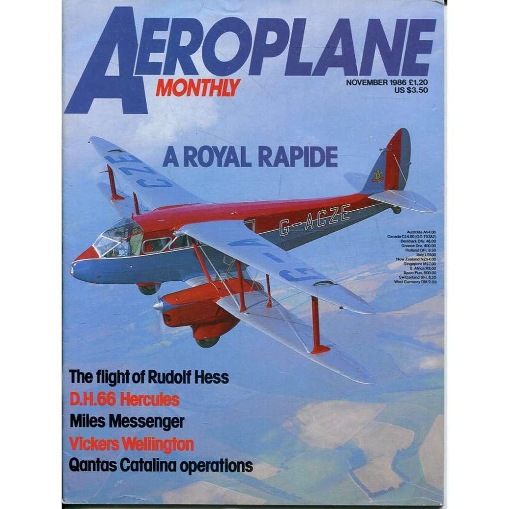 Aeroplane Monthly 11/1986, Vol. 14, No. 11, Issue No. 163 (letectví, letadla)