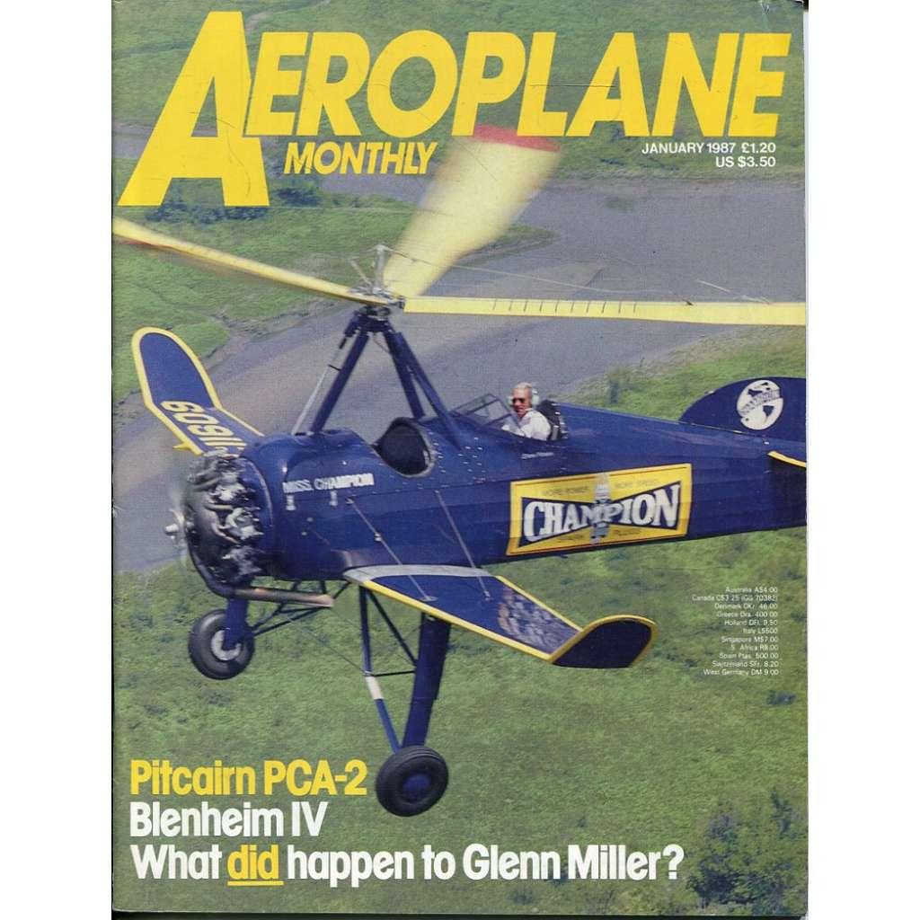 Aeroplane Monthly 1/1987, Vol. 15, No. 1, Issue No. 165 (letectví, letadla)
