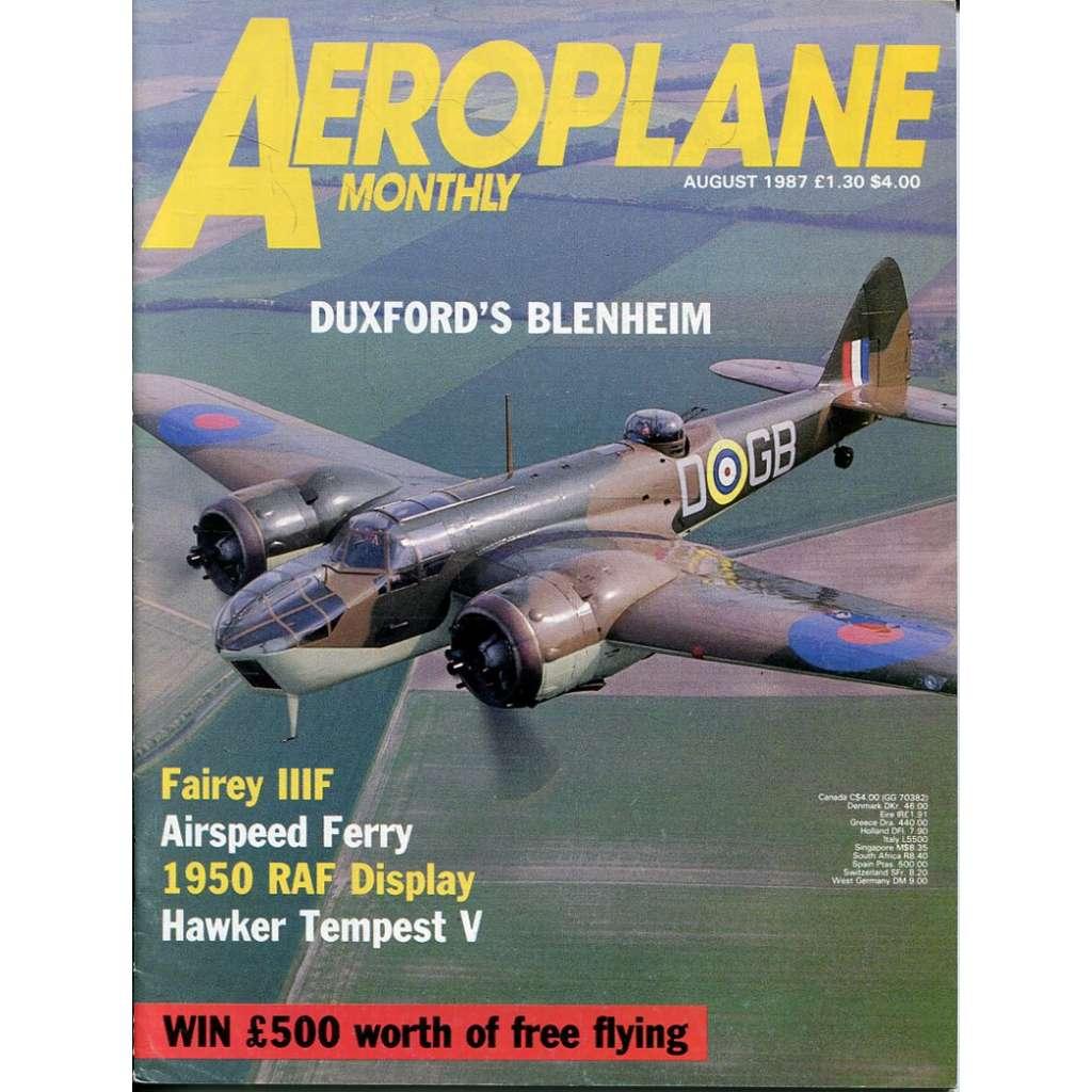 Aeroplane Monthly 8/1987, Vol. 15, No. 8, Issue No. 172 (letectví, letadla)