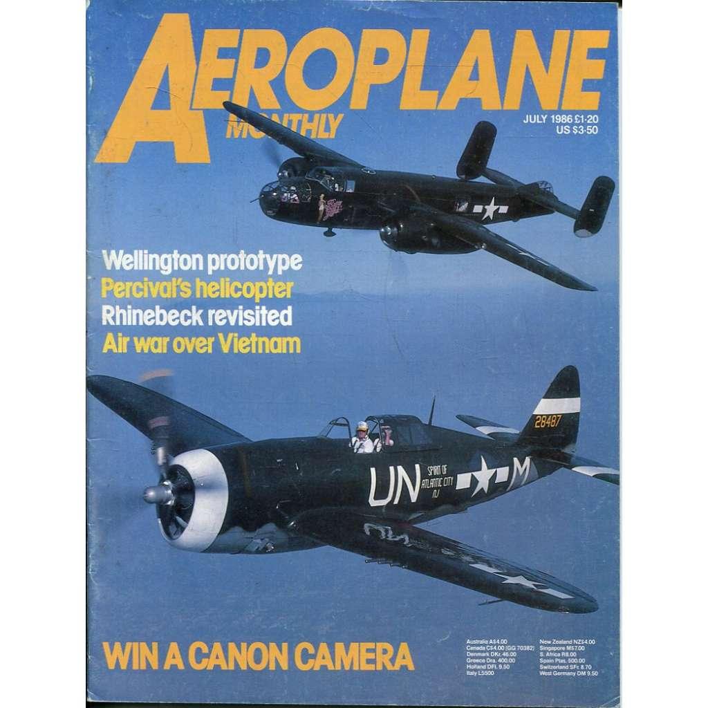 Aeroplane Monthly 7/1986, Vol. 14, No. 7, Issue No. 159 (letectví, letadla)
