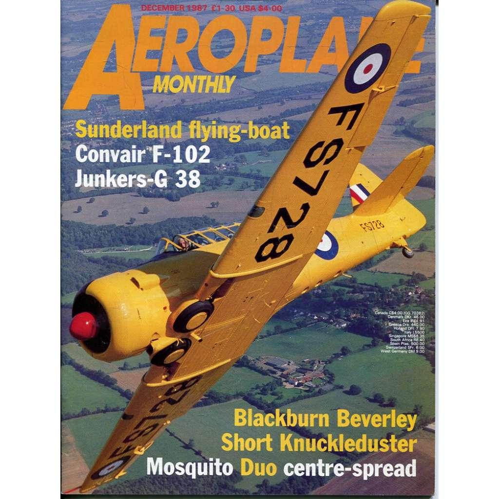 Aeroplane Monthly 12/1987, Vol. 15, No. 12, Issue No. 176 (letectví, letadla)