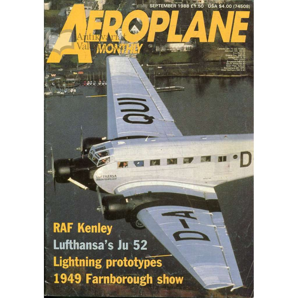 Aeroplane Monthly 9/1988, Vol. 16, No. 9, Issue No. 185 (letectví, letadla)