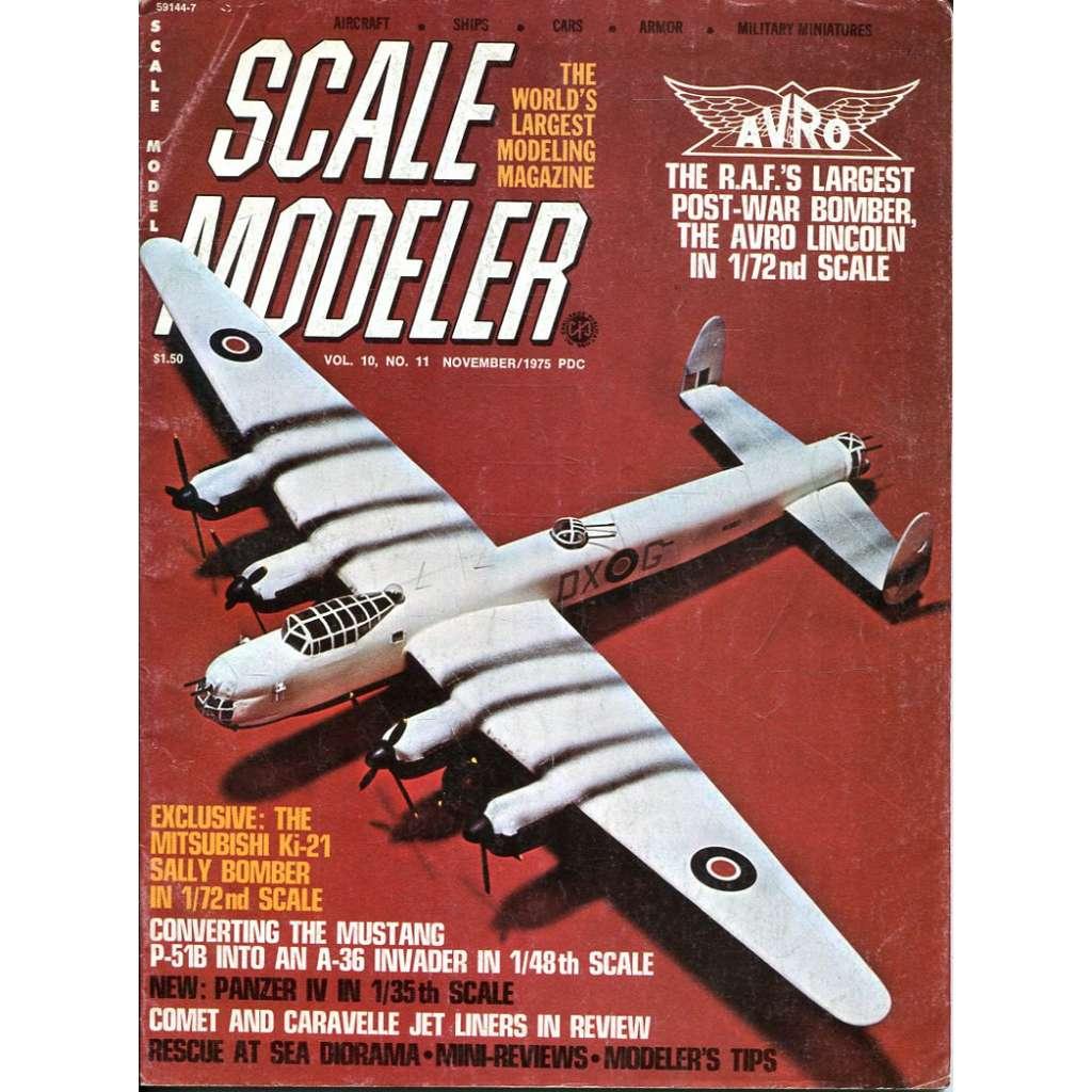 Scale Modeler 11/1975, Vol. 10, No. 11 (letadla, modelářství)
