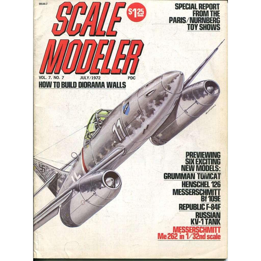 Scale Modeler 7/1972, Vol. 7, No. 7 (letadla, modelářství)