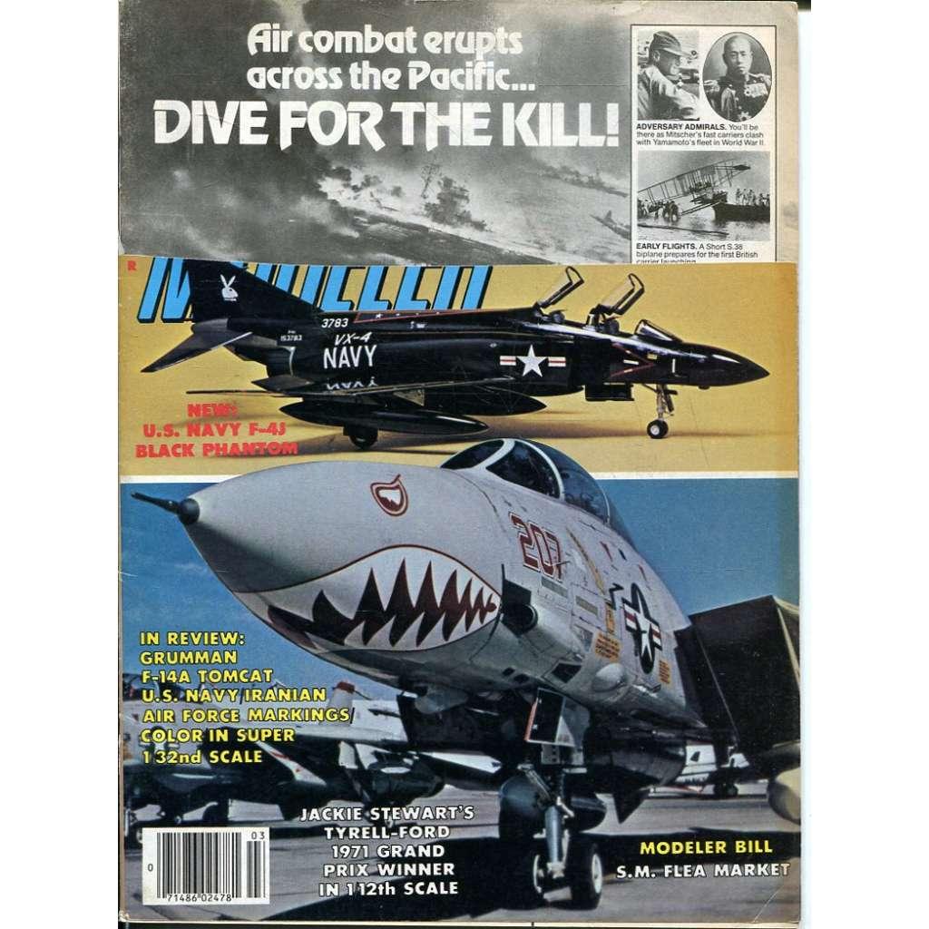 Scale Modeler 3/1982, Vol. 17, No. 3 (letadla, modelářství)