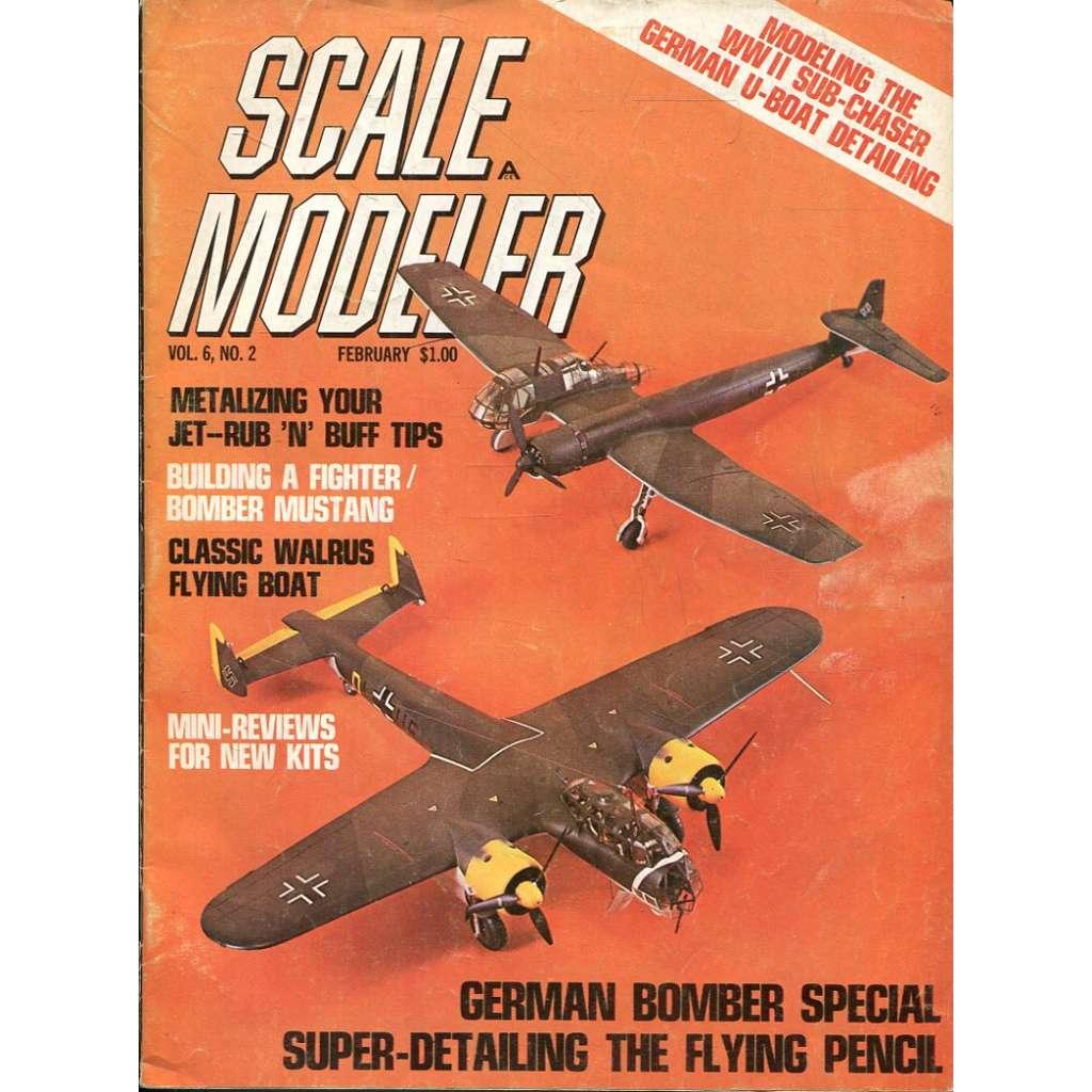 Scale Modeler 2/1971, Vol. 6, No. 2 (letadla, modelářství)