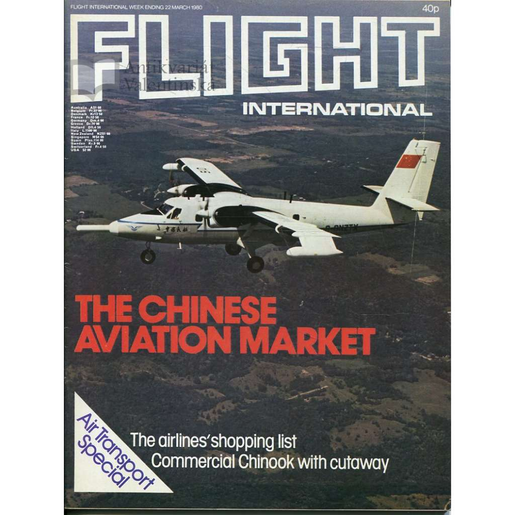 Flight International 22/3/1980, No. 3705, Vol. 117 (letadla, letectví)